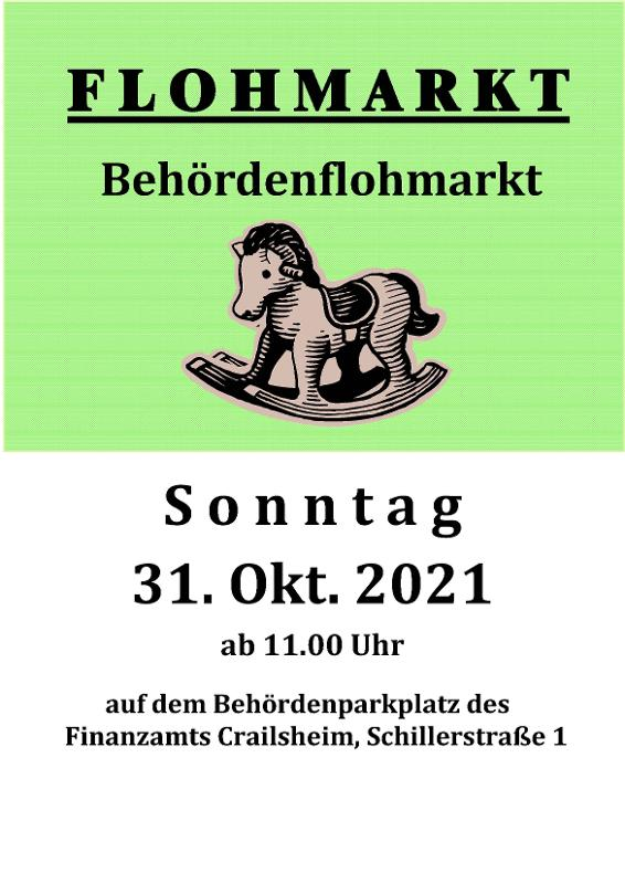 Flyer des Behördenflohmarktes